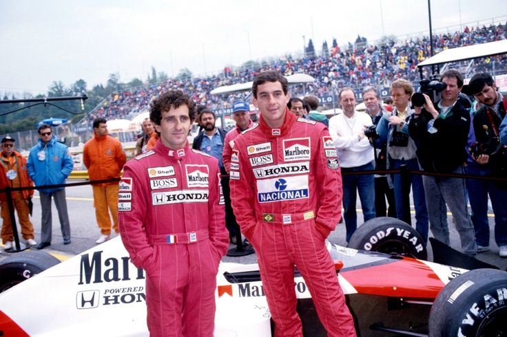 Alain Prost & Ayrton Senna