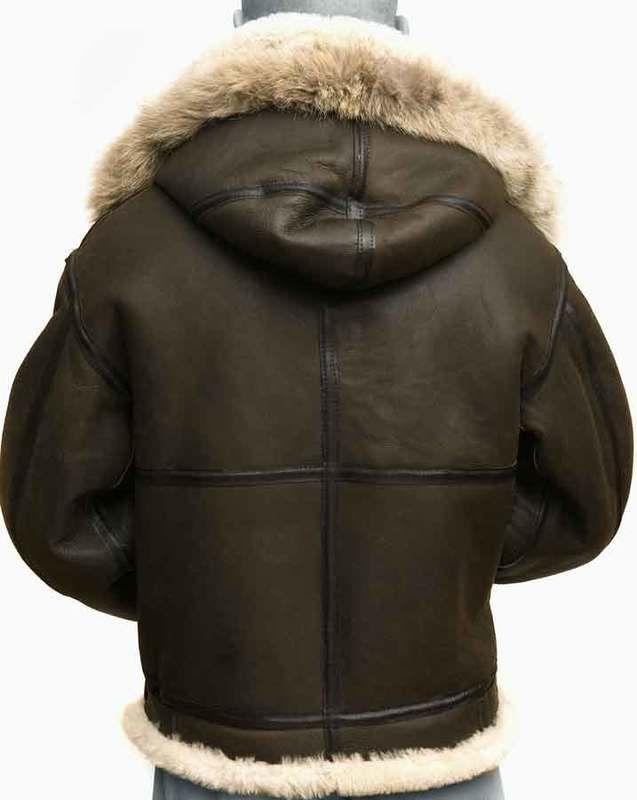 7ccb5d6a6 CockPit Hooded B3 Sheepskin Bomber Jacket in 2019   Sheepskin jacket ...