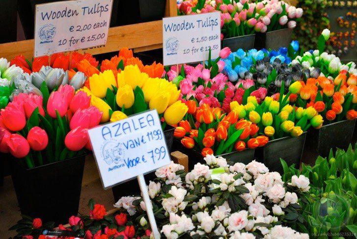 Цветочный рынок Амстердама Блуменмаркт
