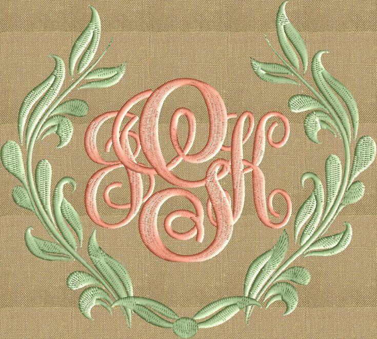 Damask Scroll Font Frame Monogram Design Easter Font