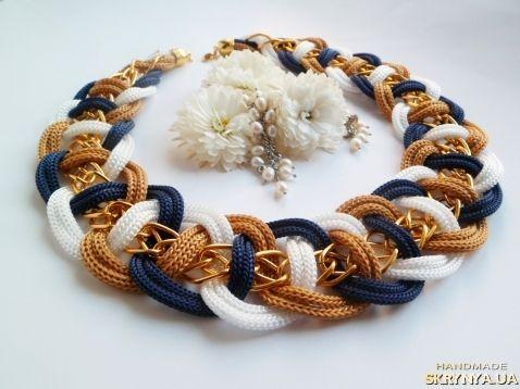 Плетеное колье «Золотой блеск»