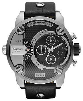 Diesel Watch, Chronograph Black Leather Strap 51mm DZ7256 - Watches - Jewelry Watches - Macy's | Jojo | Pinterest | Chronograph, Diesel and Black leather