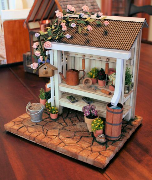The 357 best images about a 1 12 scale miniature potting for Mini potting shed