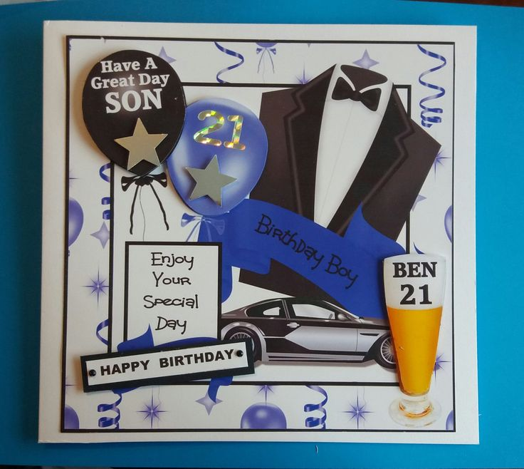 342 best cards for men boys images on pinterest card crafts diy 21st birthday card for twins google search bookmarktalkfo Images