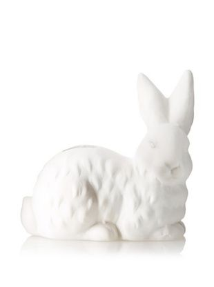 31% OFF The HomePort Collections Rested Cottontail Ceramic Bank (White)
