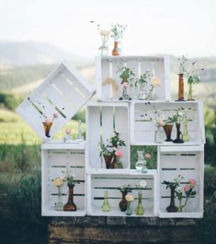 muebles de huacales  Tips  Wedding decorations