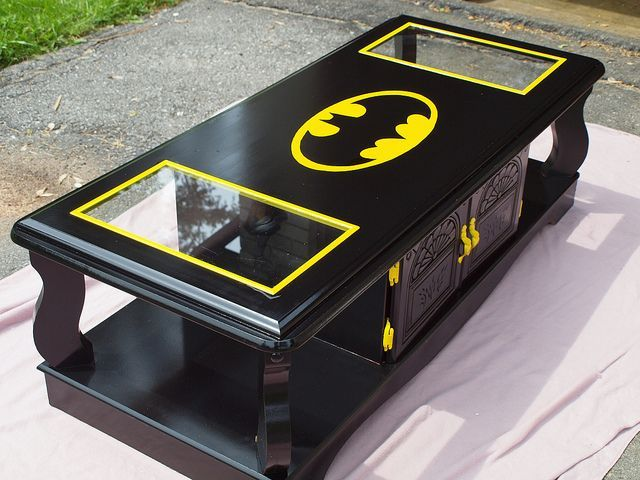 Holy Table, Batman! 10 Super Batman Symbol Tables...I need some of these for our game room!