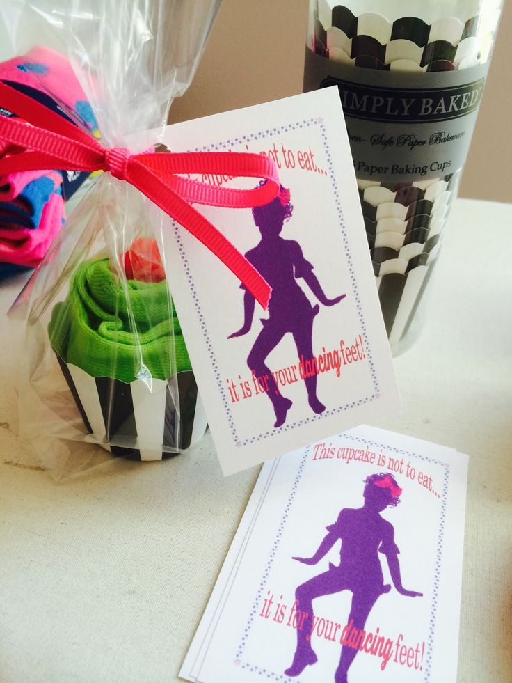 Sock cupcake dance recital favor from The Lily of the Valley Craft Room