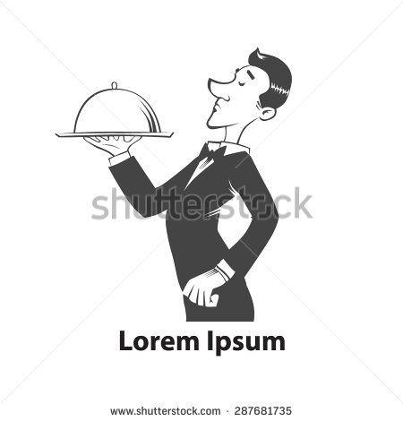 waiter cartoon 1920s style - Google Search