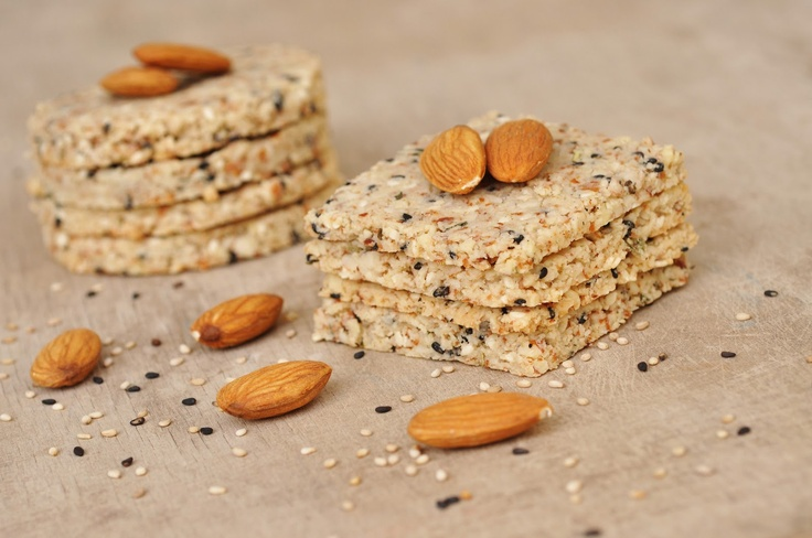 Anja's Food 4 Thought: Sesame Almond Crackers with Rosemary