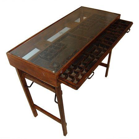 Letterbak console tafel - Blockdesign