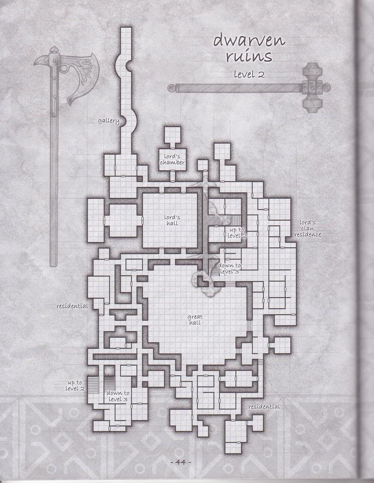 Dwarven ruins floor 2 other d d pictures pinterest for Floor 2 map swordburst 2