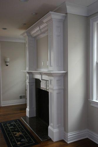 Custom Fireplace mantles, build-ins - traditional - living room - new york - Trim Team NJ