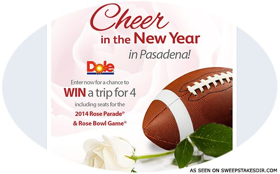 Dole Cheer In the New Year Sweepstakes