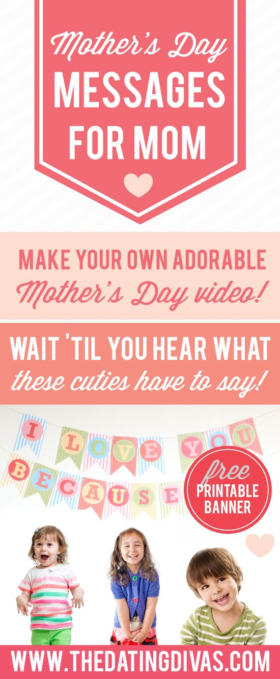 Oh my, these kids are hilarious! I want to make this Mother's Day video gift myself! www.TheDatingDivas.com