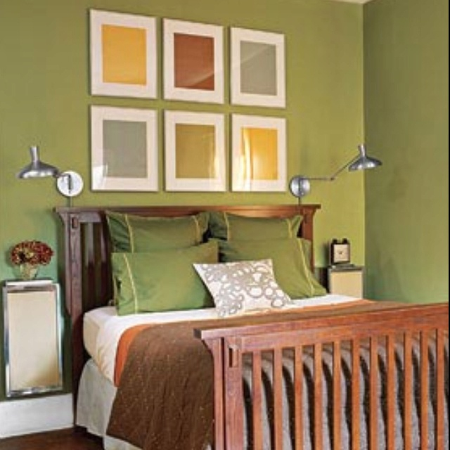 23 decorating tricks for your bedroom work the walls nightstands and adjustable lamps affixed to walls smartly save space in a small room real simple green