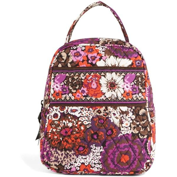 Vera Bradley Lunch Bunch Bag in Rosewood (230 DKK) ❤ liked on Polyvore featuring home, kitchen & dining, food storage containers, rosewood, lunch sack, vera bradley bags, brown lunch bags, lunch thermos and lunch bag