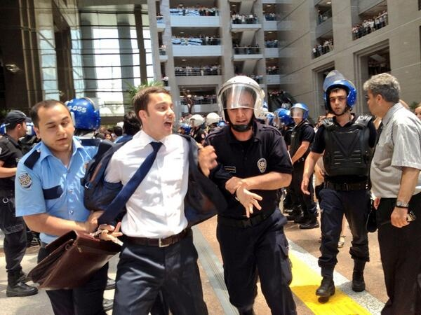 More disturbing images of lawyers taken from the Justice Hall by the police.