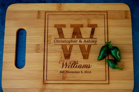 Monogram Wedding Gift Ideas: Custom Wedding Gift, Engraved