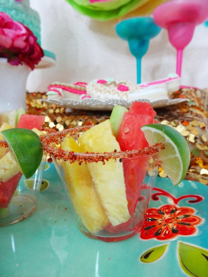 Fancy Fiesta themed birthday party with Lots of Really Fun Ideas via Kara's Party Ideas   Cake, decor, cupcakes, desserts, printables, activ...
