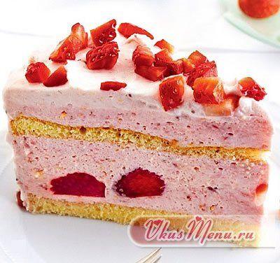 Йогуртовый торт свадебный