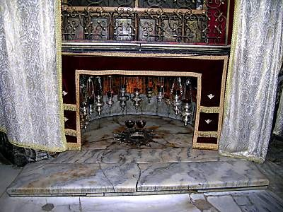 Church of the Nativity - Bethlehem - traditional site of the birth of Christ