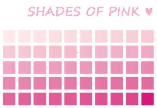 Pink, pink, pink, pink, and more pink :)