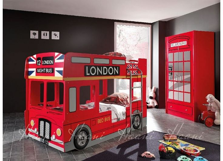 Haani London Bus Twin Bunk Bed-Red (NEW) The London Bus Bunk Bed Features a standard single size bunk bed which is close to the ground for little ones! Use the top for storage if needed and bottom bunk to sleep! Very Cool! Features: Low prof http://www.comparestoreprices.co.uk/bunk-beds/haani-london-bus-twin-bunk-bed-red-new-.asp