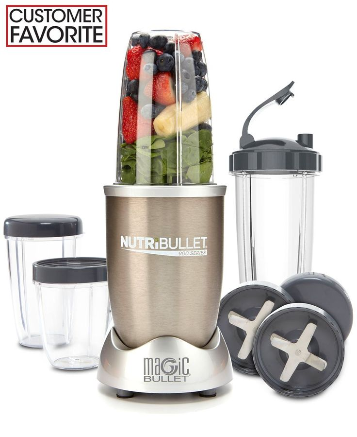 Give your life a change of pace. Unlike blenders and juicers, the NutriBullet is specifically engineered to help break down the cell walls of food to create some of the most nutritional smoothies avai