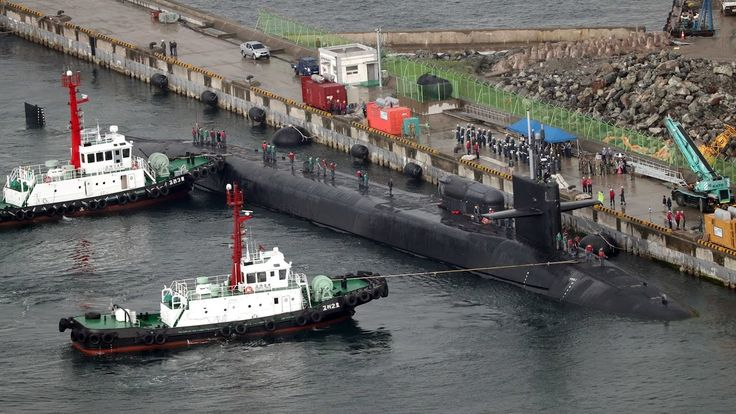 North Korea stages large scale artillery drill as US submarine docks in ...
