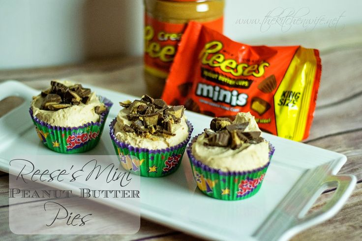 REESE'S Mini Peanut Butter Pies, the PERFECT bite-sized dessert for your game day needs! www.thekitchenwife.net #SnackTalk #CollectiveBias #Ad