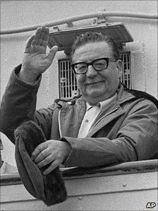 1971 picture of late Chilean President Salvador Allende days before his death.