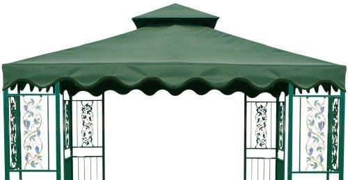 DC America GOT660-GG, 10-Foot by 10-Foot Gazebo Replacement Top, 2-Tier, Green with Green Trim by DC America. $73.46. Attractive outdoor accessories. Polyester 180 grams/square meter. Green with green trim. Ship 1 by ground Fed-Ex. Two tier gazebo top. DC America #GOT660-GG, 10-foot by 10-foot Gazebo Replacement Top, Two Tier, Green with Green Trim, Polyester 180 grams square meter. Continuing its tradition of fine quality products, D.C. America has expanded its fur...