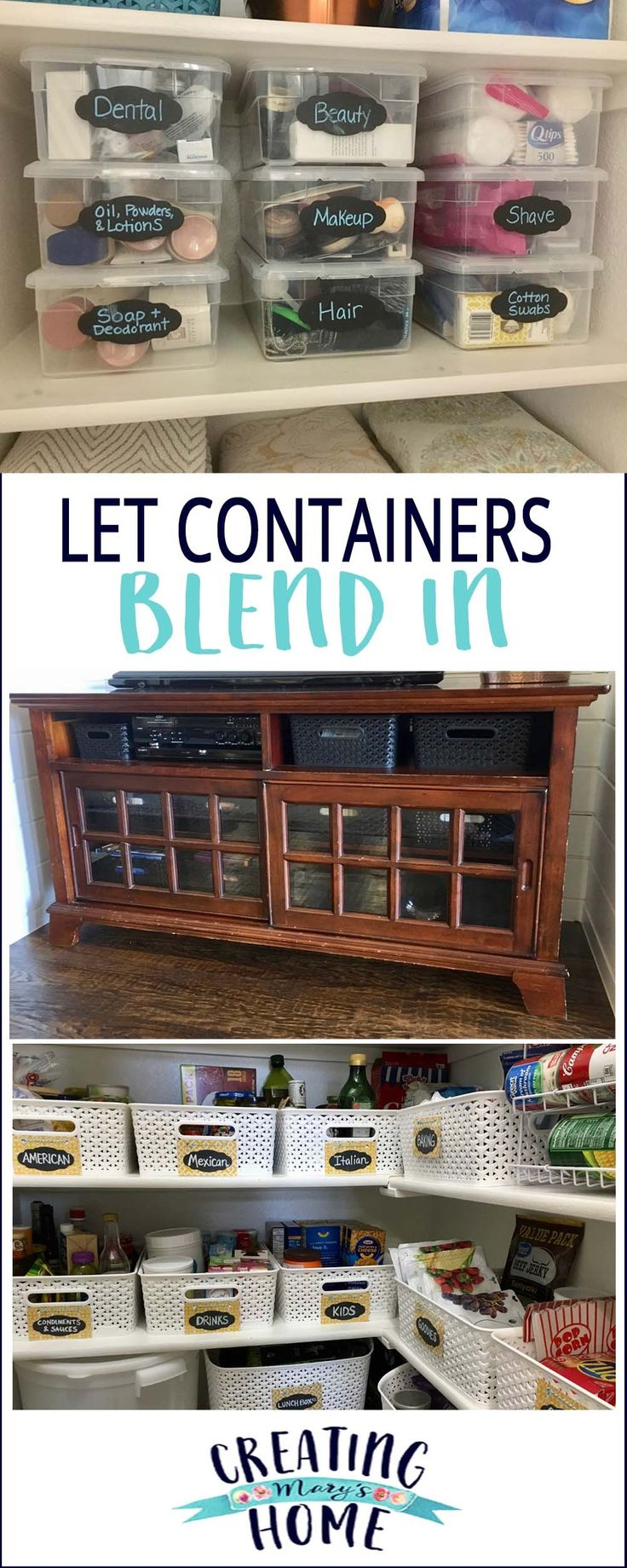 Let Containers Blend In - creatingmaryshome.com