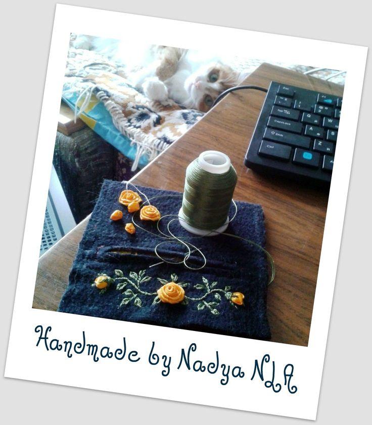 Моё рукоделие. Процесс вышивки. Кошелёк для мелочи - монетница. Авторская работа. Nadya NLA (Scorpio-Sha). 29.06.2017г.