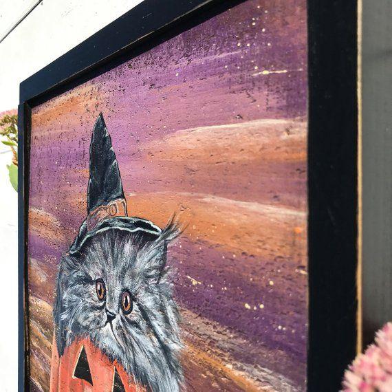 HALLOWEEN SALE - Halloween Decor - Wood Wall Art - Rustic Wall Decor