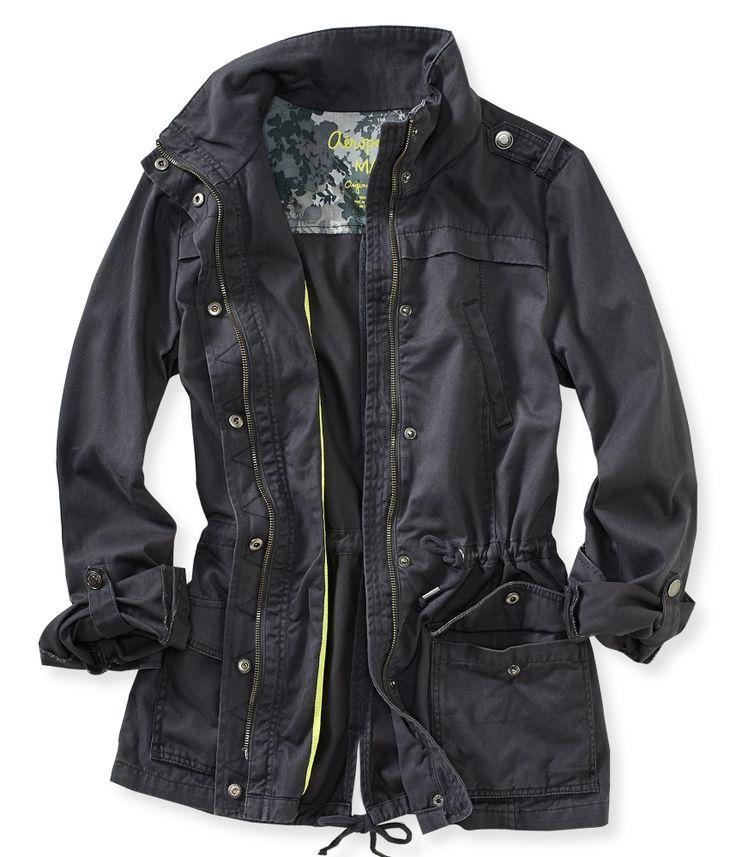 Solid Full-Zip Anorak Jacket from Aeropostale