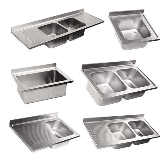 Lavelli Professionali in acciaio inox AISI 304 costruzione anche su misura del Cliente