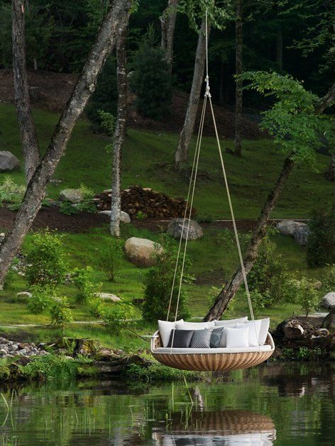 Wicker #garden bed SWINGREST by @dedon | #design Daniel Pouzet #outdoor #archiproducts