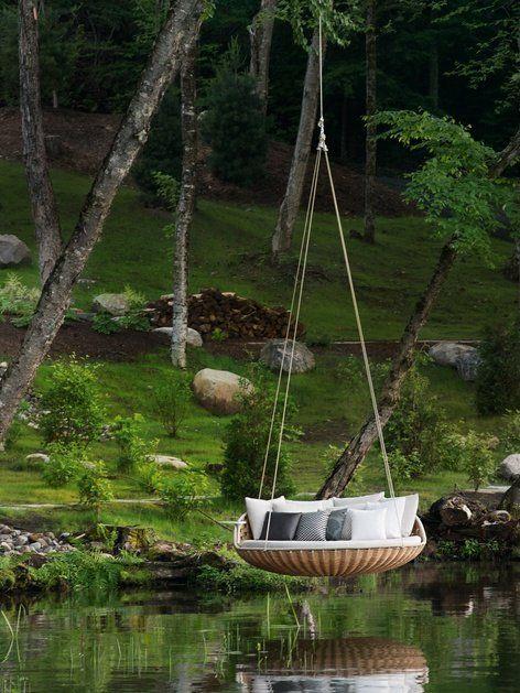= Wicker #garden bed SWINGREST by @DEDON ® | #design Daniel Pouzet #outdoor