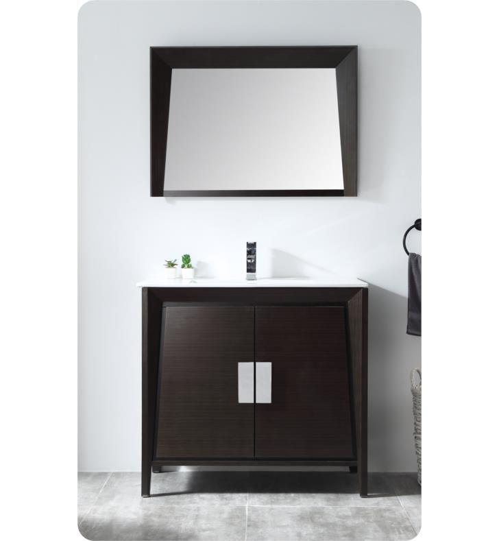 Chans Furniture Cl 22eb36 Zi Tennant Larvotto 35 3 8 Freestanding Modern Single Bathroom Vanity In Ebony Master Bathroom Vanity Single Bathroom Vanity Vanity