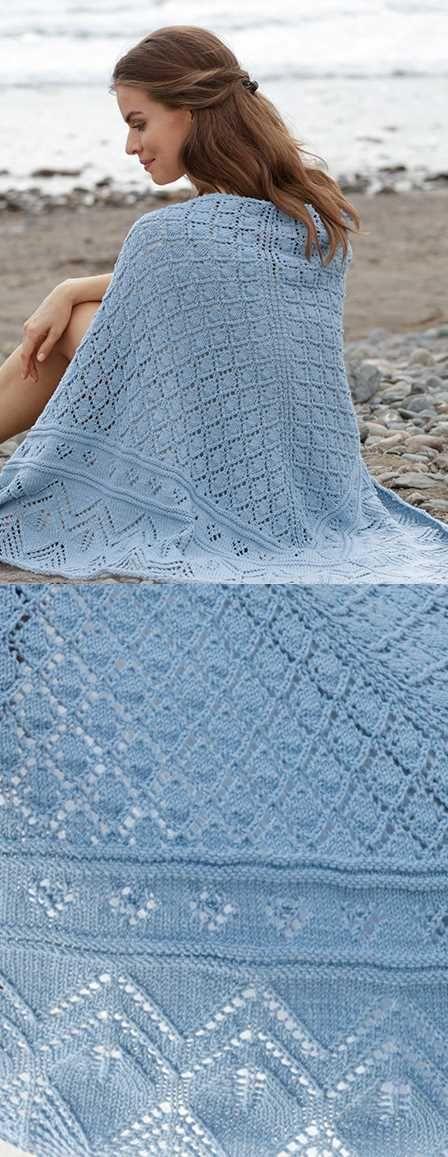 Aretusa Lace Shawl Free Knitting Pattern Download. Beautiful lace knit shawl.