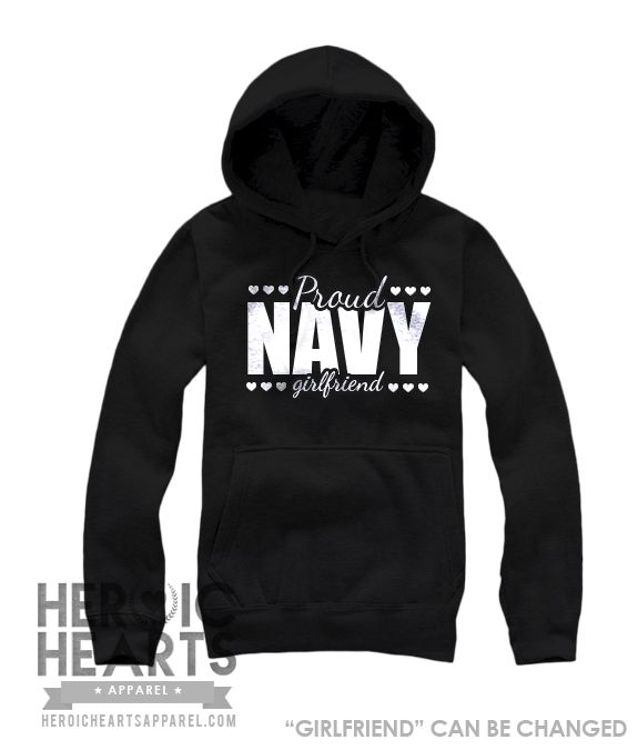 Proud [Navy] Girlfriend - Heroic Hearts Apparel