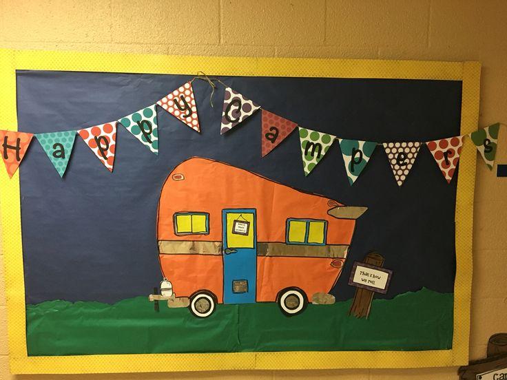 Happy campers! That's how we roll in kindergarten.