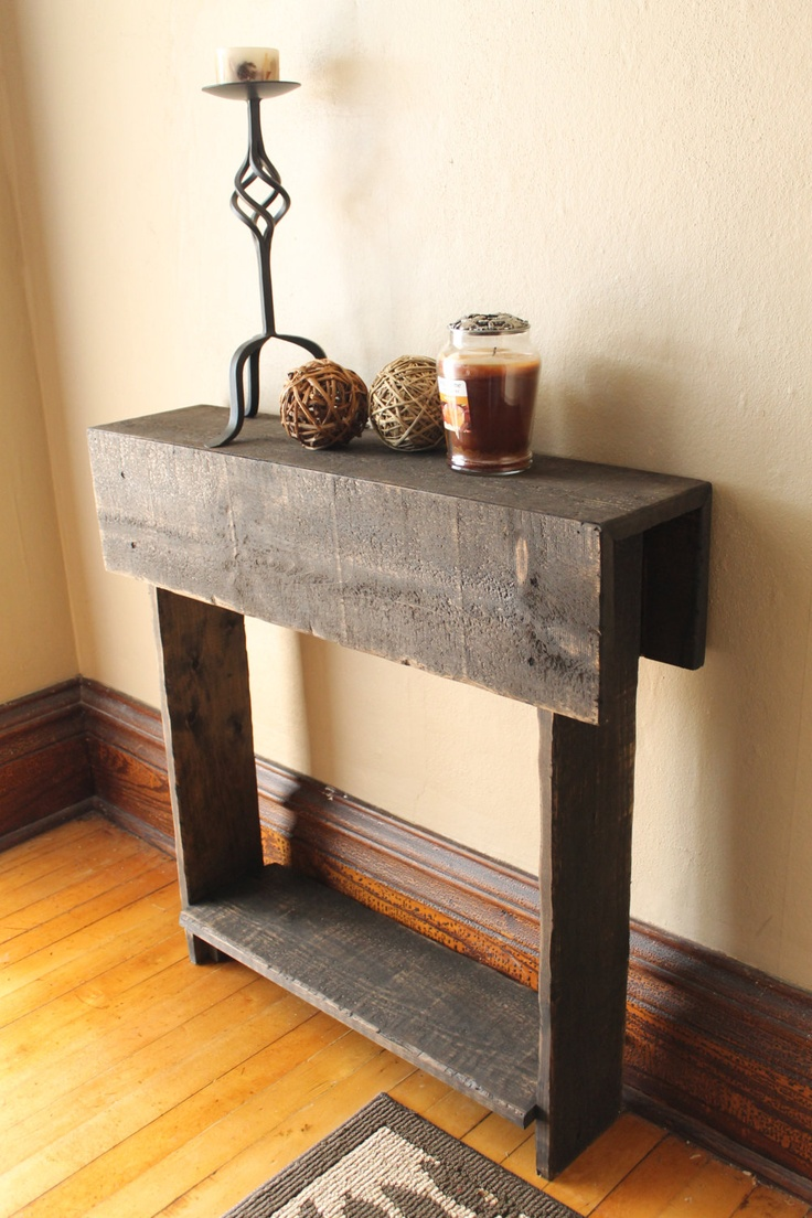 Rustic Entry Table, Reclaimed Wood Table, Entry Way, Shoe Holder, Mudroom Organizer, Farmhouse Entry Table, Console Table. $95.00, via Etsy.