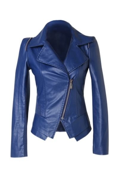 Royal Blue Leather Jacket