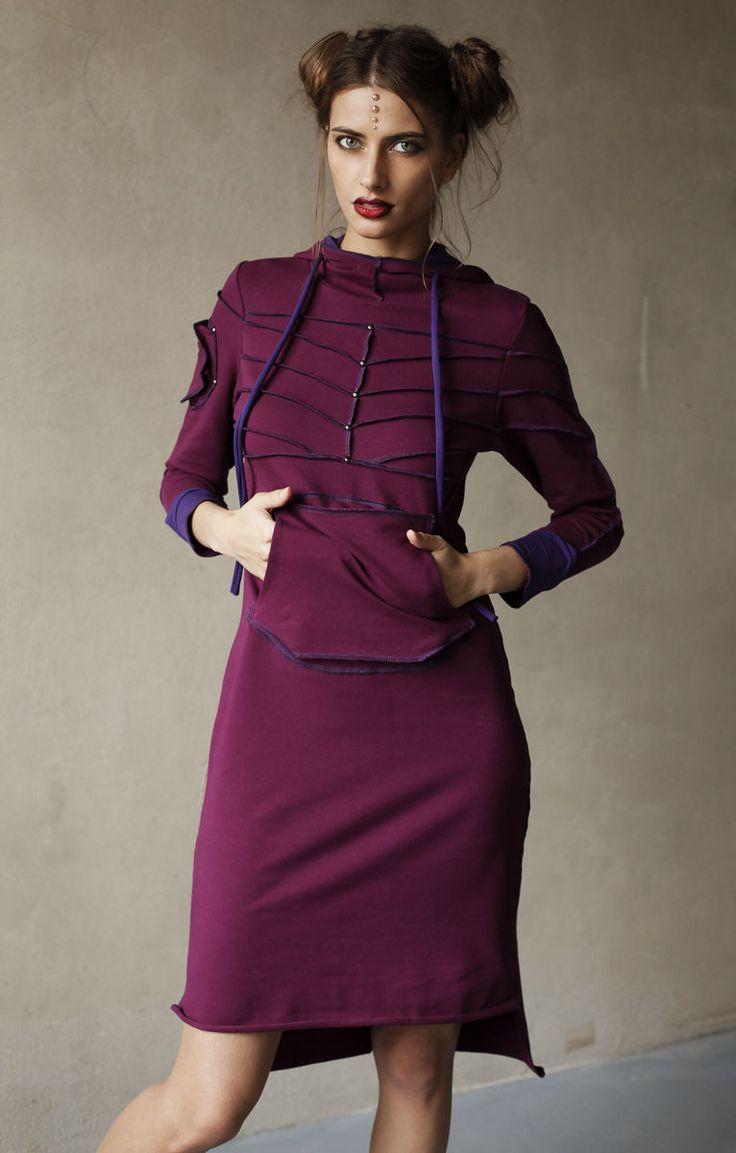 """Купить Платье """"Про"""" - Лотос - фуксия, трикотаж, трикотажное платье, уютное платье, уютная одежда"""