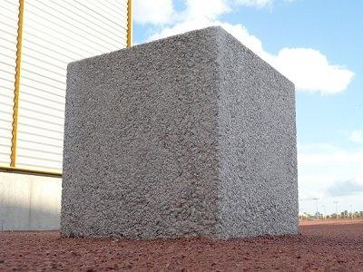 Blyth Square Exposed Aggregate Concrete Bollard Outdoor