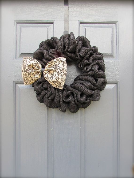 Hey, I found this really awesome Etsy listing at https://www.etsy.com/listing/176422611/burlap-wreath-black-wreath-small-burlap