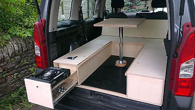 Berlingo Partner Yeti Vaneo Torneo Caddy Small Van Car Camper Conversion